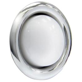 Lighted Wired Round Silver Doorbell Push Button thumb