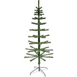 7.5' Unlit Artificial Feather Branch Christmas Tree thumb