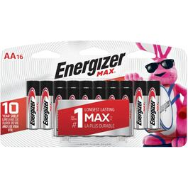 16 Pack Max Alkaline AA Batteries thumb