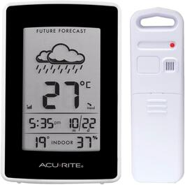 165' Indoor/Outdoor Wireless Colour Forecaster Thermometer thumb