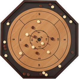 3-In-1 Bilingual Crokinole Board thumb