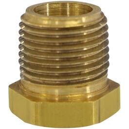 "1/4"" x 1/8"" Male-Female Pipe Thread Reducing Brass Bushing thumb"