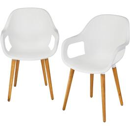 2 Pack Orlando White Bucket Chairs thumb