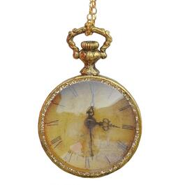 "4.25"" Round Gold Pocket Watch Ornament thumb"