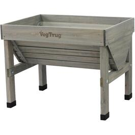 Grey Washed Classic Small Raised Garden Planter thumb