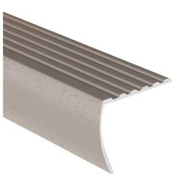 "1-3/8"" x 3' Hammered Silver Stair Nose Moulding thumb"