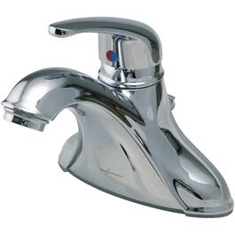 Chrome Single Lever Lavatory Faucet, with Pop Out thumb