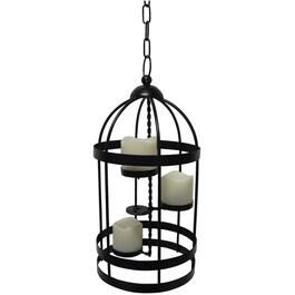 "15"" Hanging Battery Operated Birdcage Light thumb"