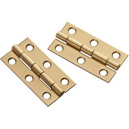 "2 Pack 2"" x 1"" Solid Brass Narrow Hinges thumb"