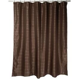"70"" x 72"" Modena Polyester Shower Curtain, with Peva Liner thumb"