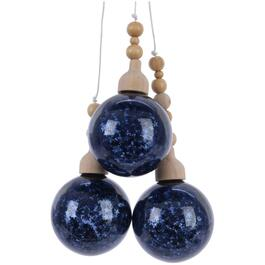 Glass Blue 3 Bauble Bundle Ornament, Assorted Styles thumb