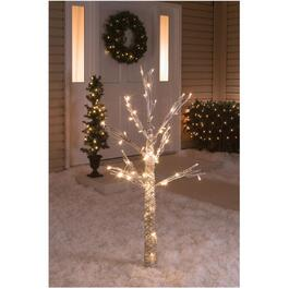 "54"" Outdoor Faux Birch Twig Tree, with 70 LED Lights thumb"