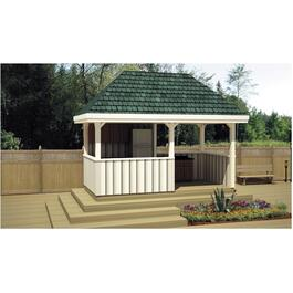 16' x 8' Pressure Treated Pavilion Gazebo Package thumb