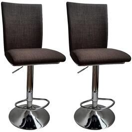 "2 Pack 24-32"" Square Dark Grey Linen Fabric Bar Stools thumb"