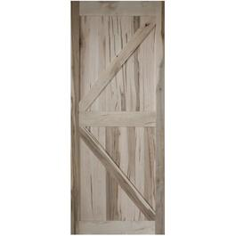 "36"" x 84"" K-Frame Unfinished Sliding Wormy Maple Barn Door thumb"