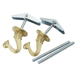 "2 Pack 1-1/2"" Brass Plated Ceiling Hooks thumb"