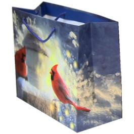 "13"" x 10.5"" Cardinal Horizontal Christmas Gift Bag, Assorted Designs thumb"