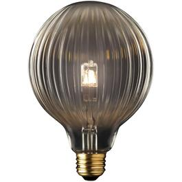 42W Globo Designer Medium Base Clear Halogen Light Bulb thumb