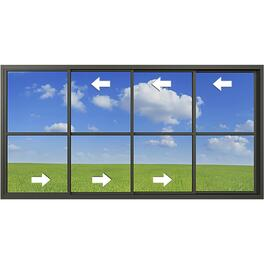 "144"" x 66"" 4 Panel Horizontal Vinyl Hung Porch Slider Window thumb"