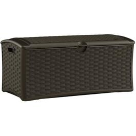 9.2 Cu. Ft Resin Wicker Storage Deck Box thumb