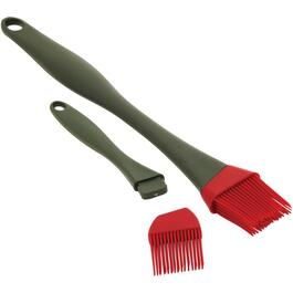 Two Piece Silicone Barbecue Basting Brush Set thumb