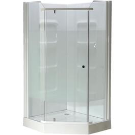 "38"" White Acrylic Angle Shower Cabinet thumb"