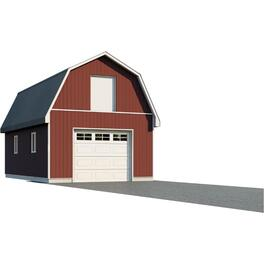 16' x 24' x 8' Hobby Barn Farm Building Package thumb