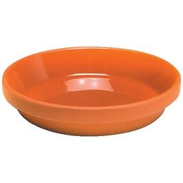 "7.5"" Glazed Clay Pot Saucer thumb"