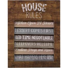 "14"" x 18"" House Rules Wall Plaque thumb"