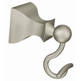 Retreat Brushed Nickel Robe Hook thumb
