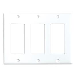 White 3 Device Switch Plate thumb