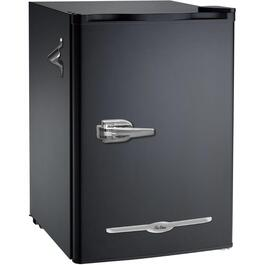 2.6 cu.ft. Retro Style Black Compact Fridge thumb