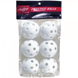"6 Pack 9"" White Plastic Training Balls thumb"