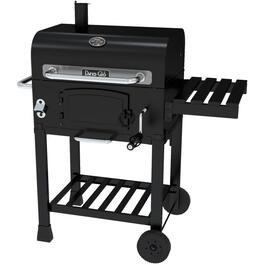381 sq. in. Black Charcoal Barbecue and Smoker thumb