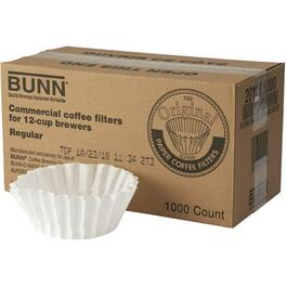 1000 Pack White Paper Basket Coffee Maker Filters, for 12 Cup Coffee Makers thumb