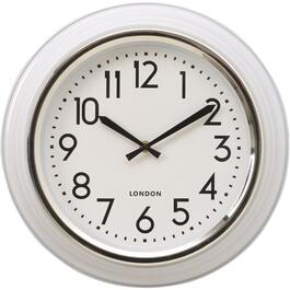 "14"" White Peggy Round Wall Clock thumb"