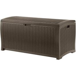 13 Cu. Ft Resin Wicker Storage Deck Box thumb