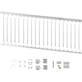 "8' x 36"" White Aluminum Stair Railing Kit thumb"