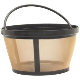 12 Cup Gold Tone Permanent Basket Coffee Maker Filter thumb