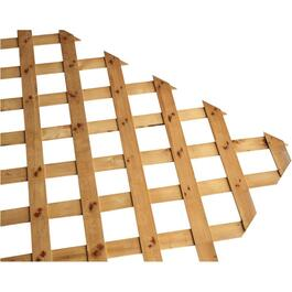 "4' x 8'  2-5/8"" Brown Heavy Duty Pressure Treated Lattice thumb"