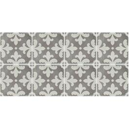 "15.76 sq. ft. 12"" x 24"" Grey Tuscana Florentino Deco Porcelain Tile Flooring thumb"