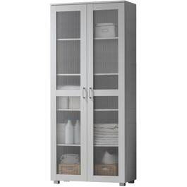 2 Door White Emerald Slim Cabinet thumb