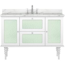 "48"" x 21.5"" Elyse White 2 Door 2 Drawer Vanity thumb"