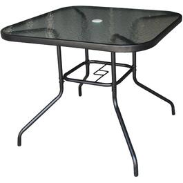 "35"" Empress Square Tempered Glass Top Dining Table thumb"