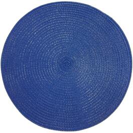 "15"" Round Blue Outdoor Placemat thumb"