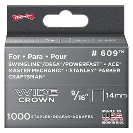 "1000 Pack 9/16"" Wide-Crown Staples, for #800X Stapler thumb"