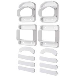 2 Pack Yardcrafters White Wall Mount Railing Connectors thumb