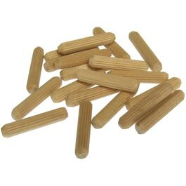 "20 Pack 1/4"" x 1-1/4"" Wooden Dowels thumb"