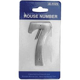 "3.5"" Antique Nickel Nail-On '7' House Number thumb"