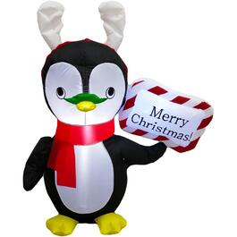 4' Photobooth Penguin Outdoor Airblown Inflatable Figure thumb